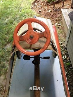 Vintage All Original Royal Deluxe Murray Pedal Car Chain Drive Shift Barn Fresh