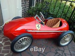 Vintage American Retro Giordani Ferrari 500 F2 Grand Prix Formula One Pedal Car