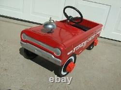 Vintage Amf Fire Chief Pedal Car # 503 Nice Condition Original