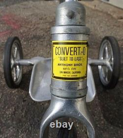 Vintage Anthony Brothers Convert-O Aluminum Lo Boy Tricycle