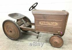 Vintage Antique Pedal Tractor