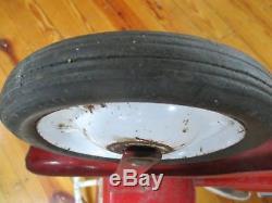 Vintage Antique Red Super Sonda Chain Drive Scooter Childs Pedal Car