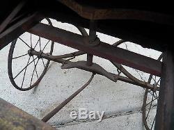 Vintage Antique Wooden Child's Wagon Petal Car, Probably Late 1800's-early1900's