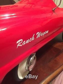 Vintage Antique restored Garton Ranch Wagon Pedal Car Chain Driven
