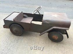 Vintage Army Jeep Pedal Car