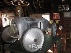 Vintage Audi Auto Union racer pedal type car Aluminum body
