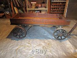 Vintage Auto Coaster Wagon