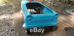 Vintage Blue Thunderbird Western Flyer Pedal Car Excellent Condition