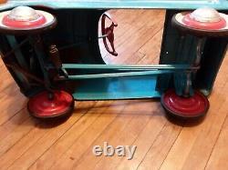 Vintage Blue Western Flyer Radio Sports Pedal Car RARE