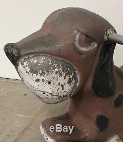 Vintage Cast Aluminum Dog Playground Ride Saddle Mates Animal