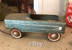 Vintage Charger Pedal Car Light Blue