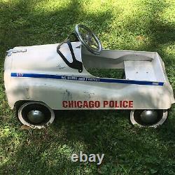 Vintage Chicago Police Pedal Car