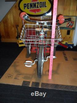 Vintage Child's Amc 1960s Big Wheel Tricycle With Basket