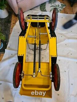 Vintage Children's Classic Harry Pedal Car Yellow Great Gizmos Brum