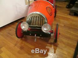 Vintage Children's Steel Jalopy A & P Advertising Pedal Car Great Condition