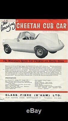 Vintage Childs Car 1960's D Type Jag BSA Petrol engine Watsonian