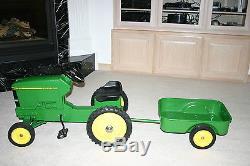 Vintage ERTL John Deere 7600 Pedal Tractor & trailer