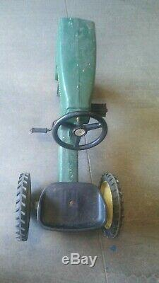 Vintage ERTL John Deere Metal Pedal Tractor Model 520 Child Kids Local Pick Up
