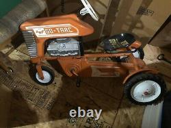 Vintage Early 1960s AMF Rare Orange Metal Go Trac Chain Drive Pedal Tractor
