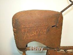 Vintage Early TRACTOR PEDAL CAR BMC Senior Heavy Duty, Rusty Gold