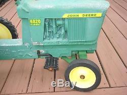 Vintage Ertl John Deere Diesel 4020 Pedal Tractor Beauty