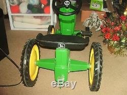 Vintage Ertl John Deere Pedal Tractor & Wagon