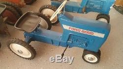 Vintage Ertl Pedal Tractor Ford 8000 Restored