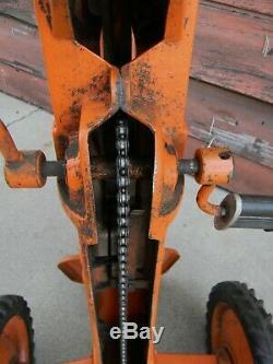 Vintage Eska Cast Aluminum Allis Chalmers Pedal Tractor