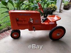 Vintage Eska Cast Aluminum D14 Allis Chalmers Pedal Tractor