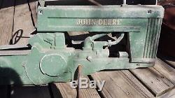 Vintage Eska John Deere 60 Pedal Tractor 1950s Rare open engine