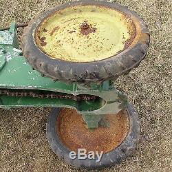 Vintage Eska John Deere pedal tractor for repair