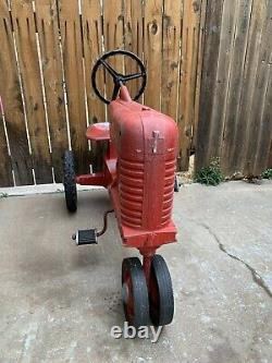 Vintage Eska McCormick Farmall 400 Pedal Tractor All Original And Working
