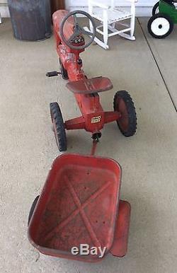 Vintage Eska -McCormick Farmall 400 Pedal Tractor with Wagon