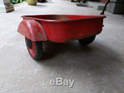 Vintage Eska Pedal Tractor Trailer Fender Cart Wagon