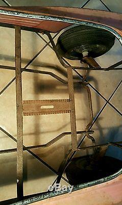 Vintage FERRARI TESTAROSSA Metal Pedal Car RARE restore