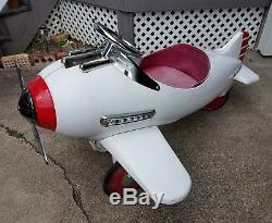 Vintage FULL SIZE Metal AIRPLANE Pedal Car Steelcraft Unrestored