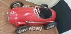 Vintage Ferrari Race Metal Pedal Car American Retro Rare Used As Display