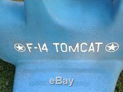 Vintage FiberGlass F-14 F14 TOM CAT Top Gun Playground Spring Ride On Toy RARE