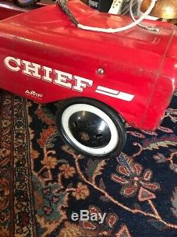 Vintage Fire Chief Pedal Car 503 Amf