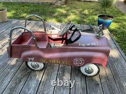 Vintage Fire Truck Pedal Car