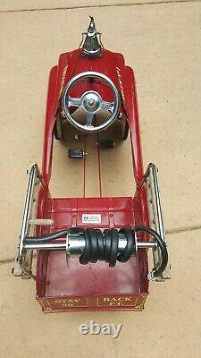 Vintage GEARBOX Fire Truck No. 1 Pedal Car. Nice Condition