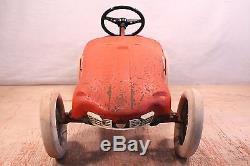 Vintage GIORDANI 1960s Ferrari Indy Pedal Car For Parts or Repair