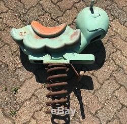 Vintage GameTime Cast Aluminum PlayGround Toy Turtle