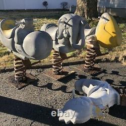 Vintage Game Time Chicken Cast Aluminum Playground Spring Rider