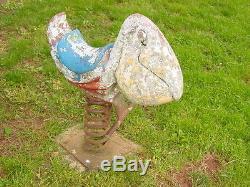 Vintage Gametime Playground Saddle Mates Pelican Spring Ride Aluminum Amusement