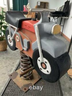 Vintage Gametime Saddle Mates Playground Motorcycle Riding Toy