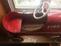 Vintage Garton Fire Chief Car