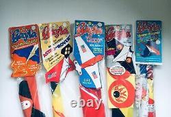 Vintage Gayla Kite mixed set of 5 Guided Kites MIP 1970's USA