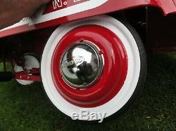 Vintage Gearbox Jet Flow Drive Fire Truck Pedal Car # N-287 Super Nice Original