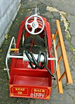Vintage Gearbox Volunteer Fire Dept. Truck No. 2 Pedal Car